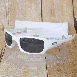 NEW Oakley Polarized FIVES SQUARED Polished White